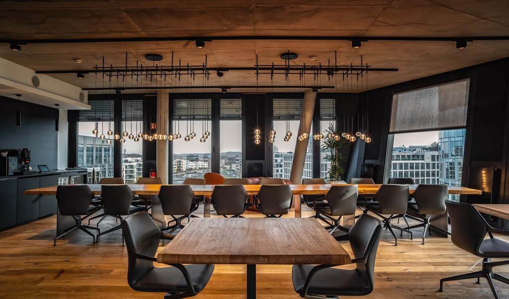 Elegante FUNKE Lounge im FUNKE Event-Center